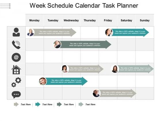 Week Schedule Calendar Task Planner Ppt PowerPoint Presentation Ideas Slide