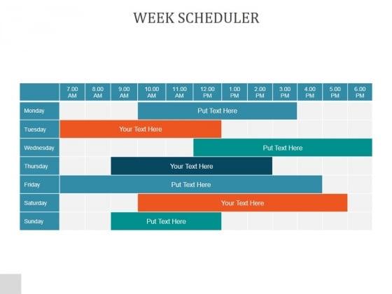 Week Scheduler Ppt PowerPoint Presentation Template