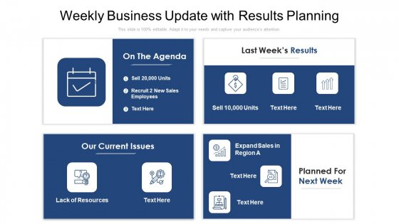Weekly_Business_Update_With_Results_Planning_Ppt_Outline_Diagrams_PDF_Slide_1