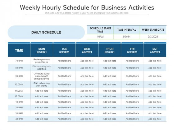 Weekly_Hourly_Schedule_For_Business_Activities_Ppt_PowerPoint_Presentation_Gallery_Layouts_PDF_Slide_1
