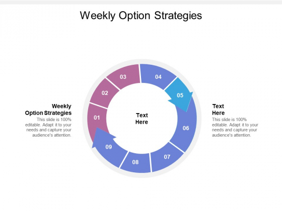 Weekly Option Strategies Ppt PowerPoint Presentation Inspiration Ideas Cpb