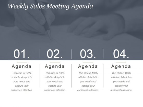 Weekly Sales Meeting Agenda Ppt PowerPoint Presentation Show