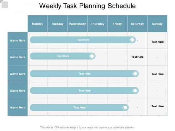Weekly Task Planning Schedule Ppt PowerPoint Presentation File Demonstration