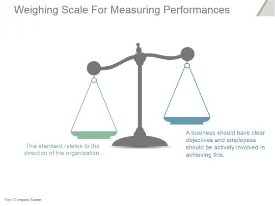 Weighing Scale For Measuring Performances Ppt PowerPoint