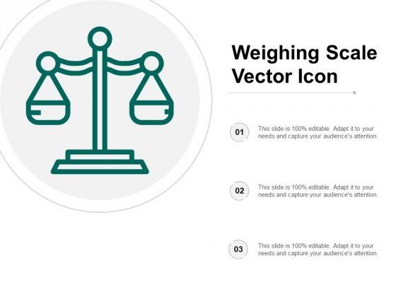 Weighing Scale Vector Icon Ppt PowerPoint Presentation Layouts Deck