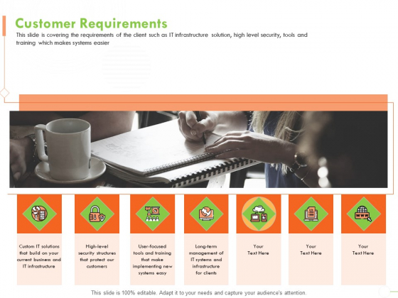 Welfare Work Value Customer Requirements Ppt Gallery Graphics Template PDF