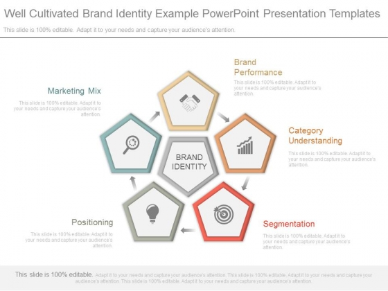 well cultivated brand identity example powerpoint presentation, Presentation templates
