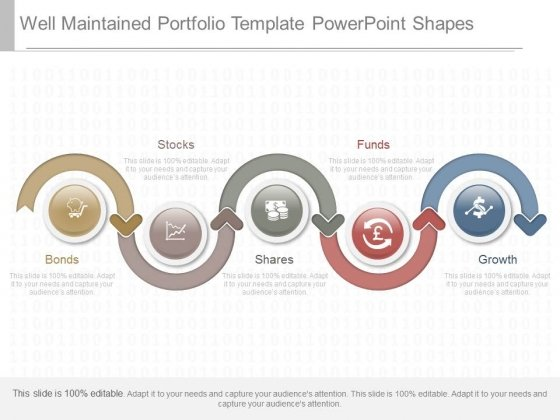 Well Maintained Portfolio Template Powerpoint Shapes
