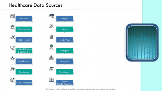 Wellness Management Healthcare Data Sources Ppt Infographics Summary PDF