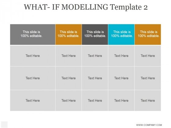 What If Modelling Template 2 Ppt PowerPoint Presentation Summary