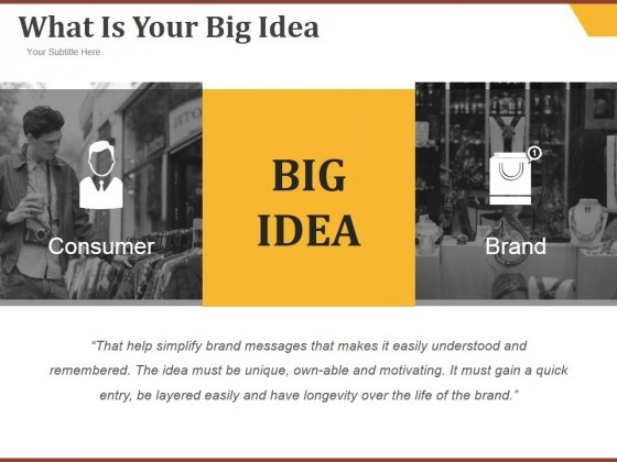 What Is Your Big Idea Ppt PowerPoint Presentation Samples