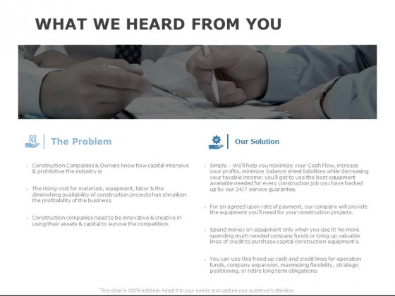 What We Heard From You Ppt PowerPoint Presentation Styles Example