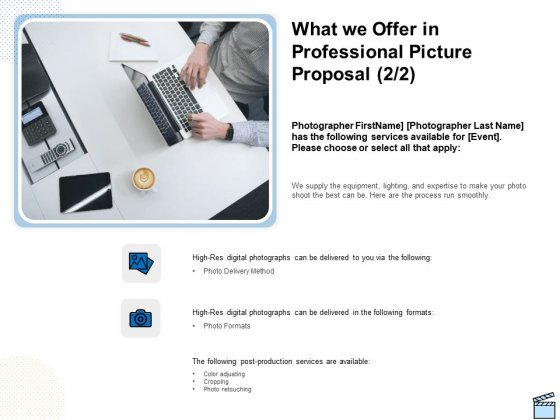 What We Offer In Professional Picture Proposal Post Ppt Outline Clipart PDF