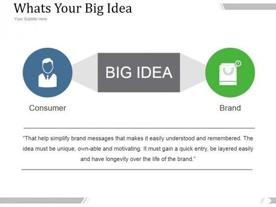 Whats Your Big Idea Ppt PowerPoint Presentation Example 2015