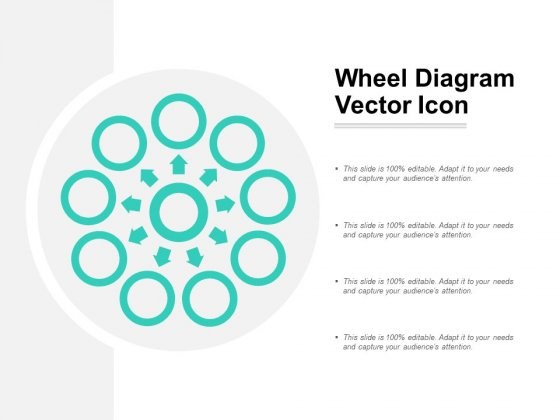 Wheel Diagram Vector Icon Ppt PowerPoint Presentation Gallery Aids