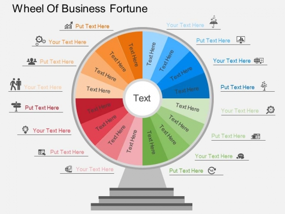 Wheel Of Business Fortune Powerpoint Template