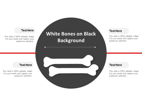 White Bones On Black Background Ppt Powerpoint Presentation Gallery Portrait