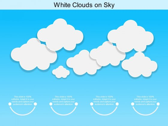 White Clouds On Sky Ppt PowerPoint Presentation Ideas Graphics Pictures