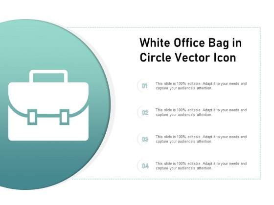 White Office Bag In Circle Vector Icon Ppt PowerPoint Presentation Professional Graphics
