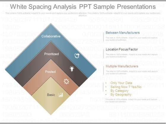 White Spacing Analysis Ppt Sample Presentations