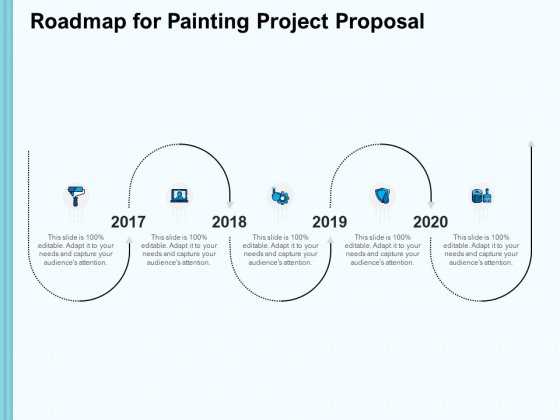 Whitewash Service Roadmap For Painting Project Proposal Ppt Model Portfolio PDF