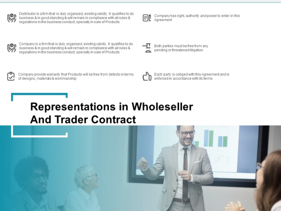 Wholeseller And Trader Contract Proposal Representations In Wholeseller And Trader Contract Professional PDF