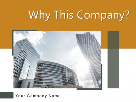 Why This Company Sales Profitability Ppt PowerPoint Presentation Complete Deck