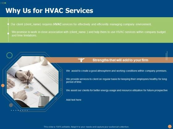Why Us For HVAC Services Ppt PowerPoint Presentation Portfolio Maker PDF