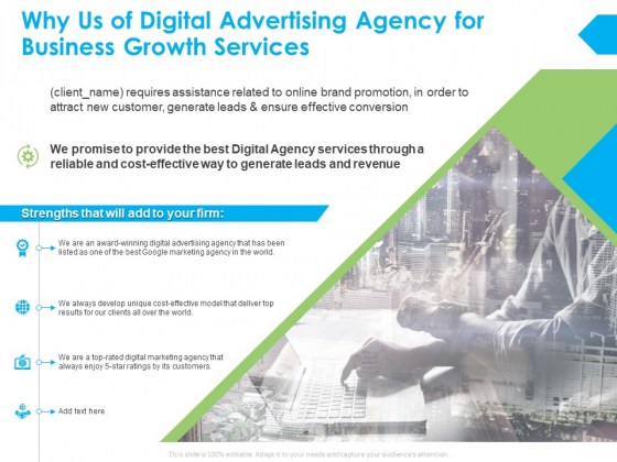 Why Us Of Digital Advertising Agency For Business Growth Services Ppt PowerPoint Presentation Layouts Aids