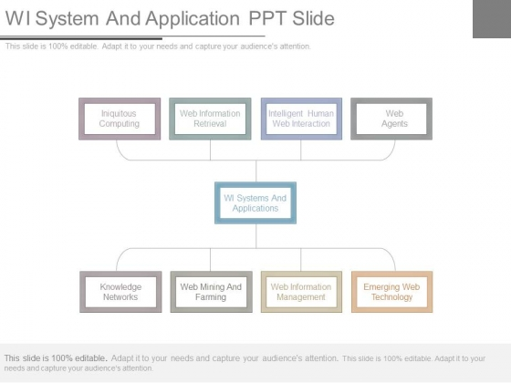 Wi System And Application Ppt Slide