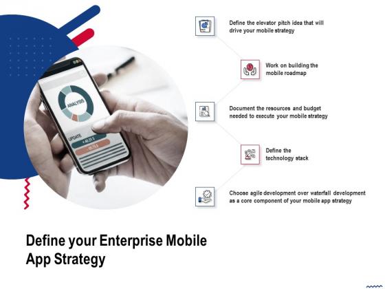 Wireless Phone Information Management Plan Define Your Enterprise Mobile App Strategy Icons PDF