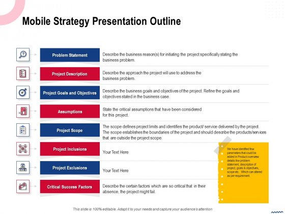 Wireless Phone Information Management Plan Mobile Strategy Presentation Outline Problem Rules PDF