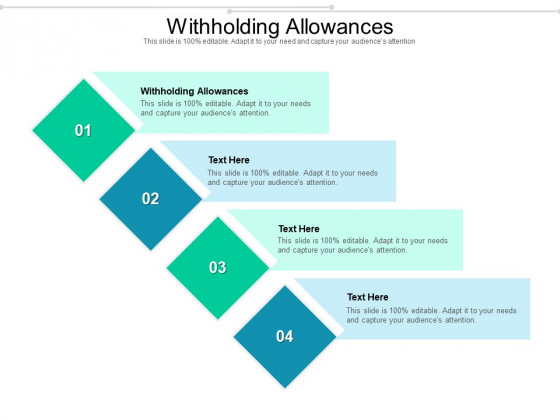 Withholding Allowances Ppt PowerPoint Presentation Styles Styles Cpb Pdf