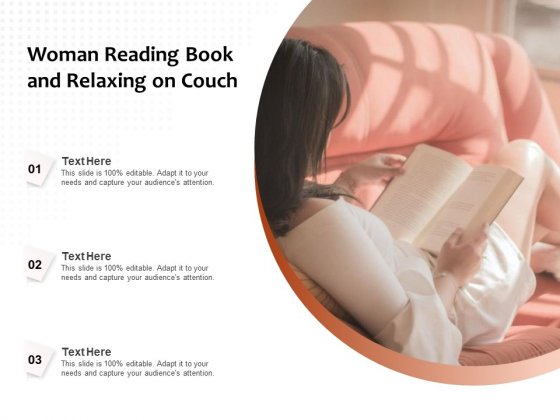 Woman Reading Book And Relaxing On Couch Ppt PowerPoint Presentation Pictures Topics PDF