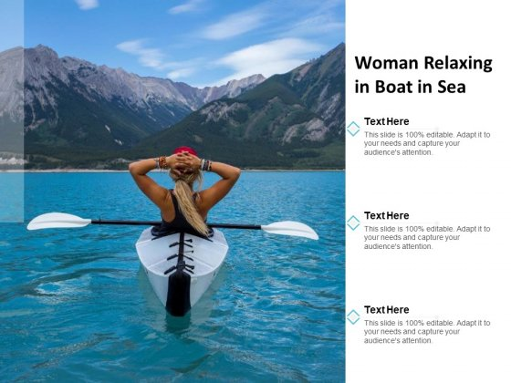 Woman Relaxing In Boat In Sea Ppt PowerPoint Presentation Layouts Slide Download
