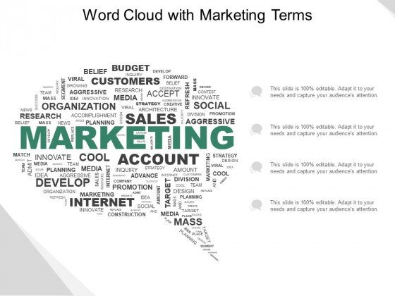 Word Cloud With Marketing Terms Ppt Powerpoint Presentation Infographic Template Professional
