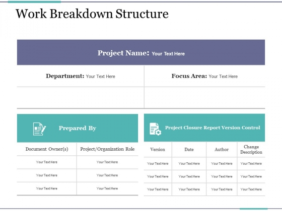 work breakdown structure ppt powerpoint presentation ideas model