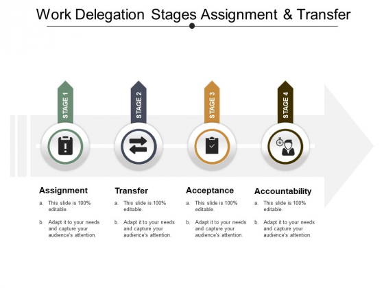 Work Delegation Stages Assignment And Transfer Ppt PowerPoint Presentation Icon Infographic Template