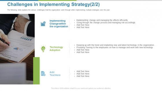 Work Execution Liability Challenges In Implementing Strategy Ppt File Example Topics PDF