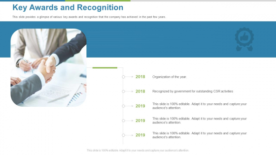 Work Execution Liability Key Awards And Recognition Ppt Outline Example PDF