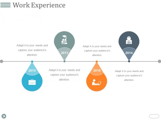 Work Experience Ppt PowerPoint Presentation Layouts Graphic Images