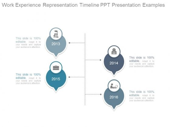 Work Experience Representation Timeline Ppt Presentation Examples