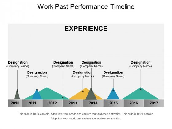 Work Past Performance Timeline Ppt PowerPoint Presentation Summary Samples