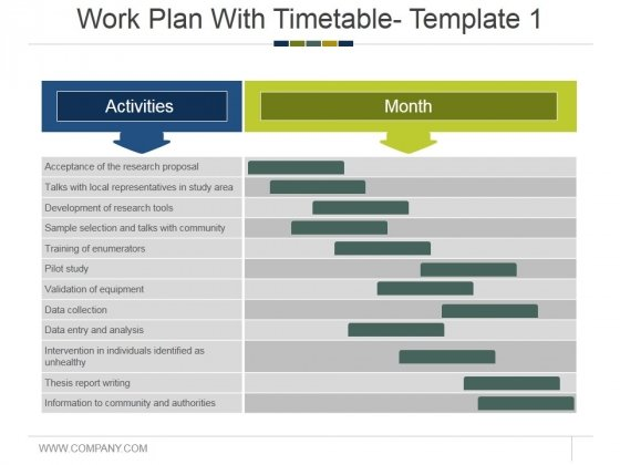 Work Plan With Timetable Template 1 Ppt PowerPoint Presentation File Graphic Images