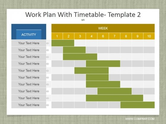 Work Plan With Timetable Template 2 Ppt PowerPoint Presentation File Ideas