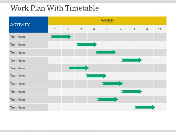 Work Plan With Timetable Template  Ppt Powerpoint Presentation