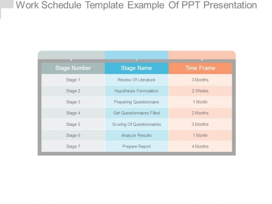 work schedule template example of ppt presentation - powerpoint, Powerpoint templates