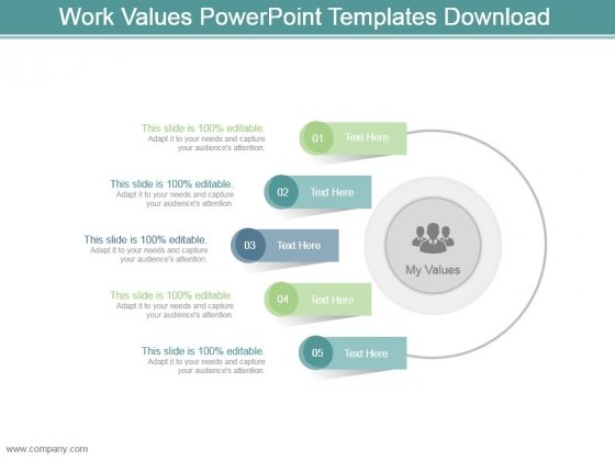 Work Values Powerpoint Templates Download