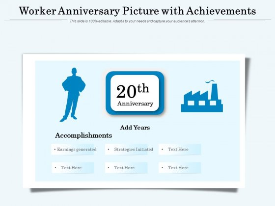 Worker Anniversary Picture With Achievements Ppt PowerPoint Presentation File Templates PDF