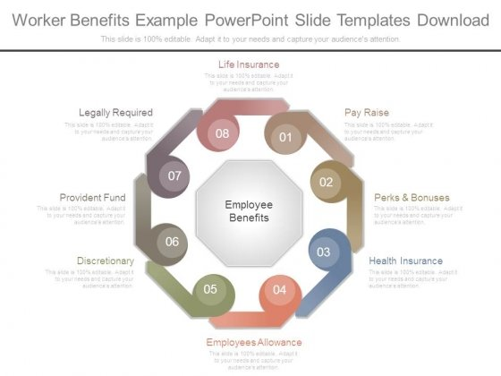 Worker Benefits Example Powerpoint Slide Templates Download
